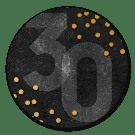 30, confetti en zwart