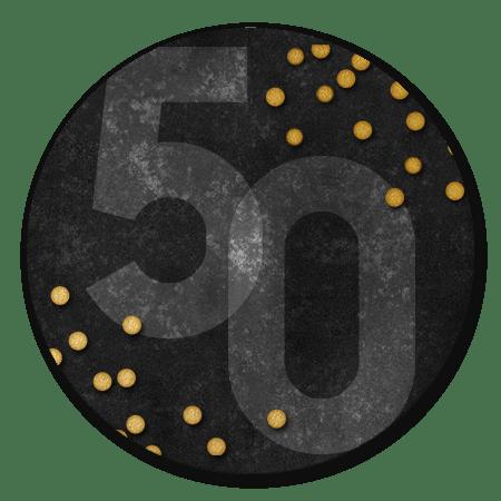 50, confetti en zwart