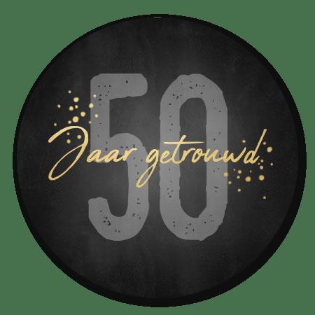 50 jaar getrouwd gouden spetters
