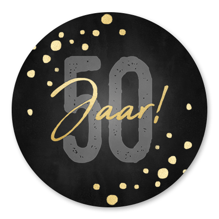 50 jaar Confetti zwart