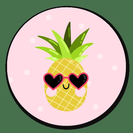 Ananas met zonnebril