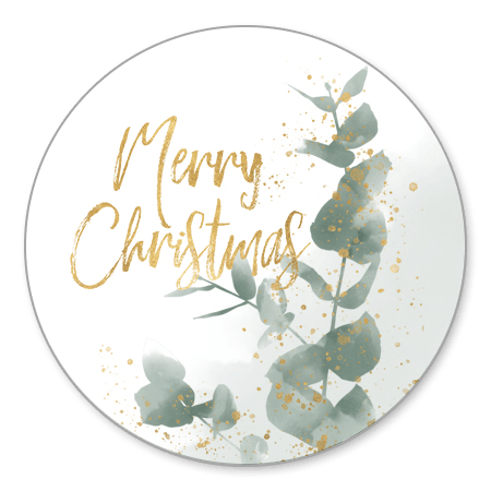 Eucalyptus en gouden Merry Christmas