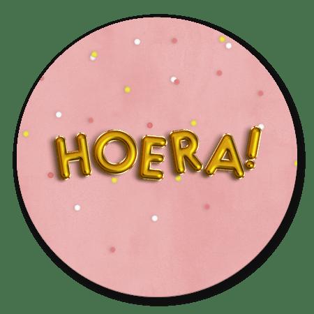 Confetti en ballon Hoera Meisje