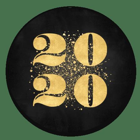 Gouden 2020 met spetters zwart
