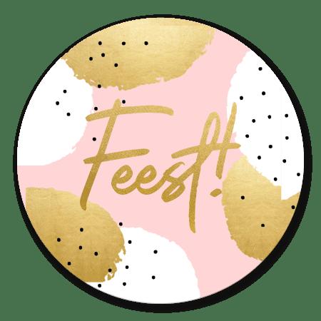 Gouden en Witte stippen 'Feest'