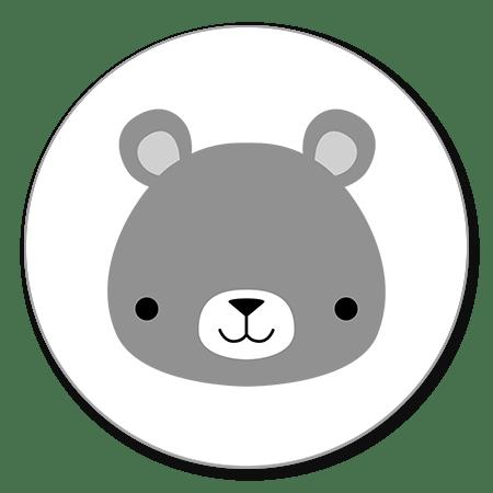 Hoofdje grijs beertje
