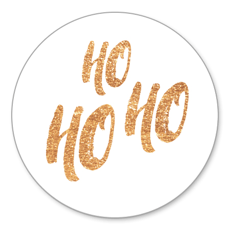 Goudlook Ho Ho Ho typografie