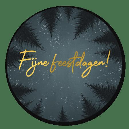 Kerst - Bomen, sneeuw en Fijne feestdagen