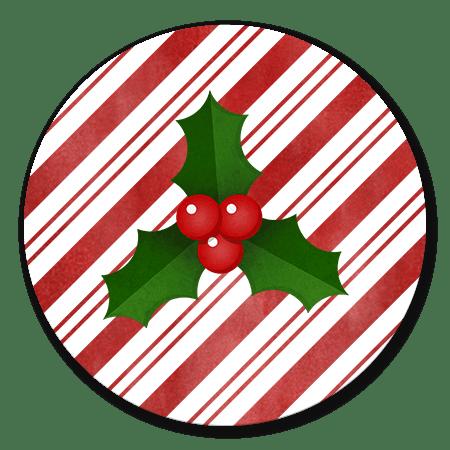 Kersthulst en zuurstok achtergrond
