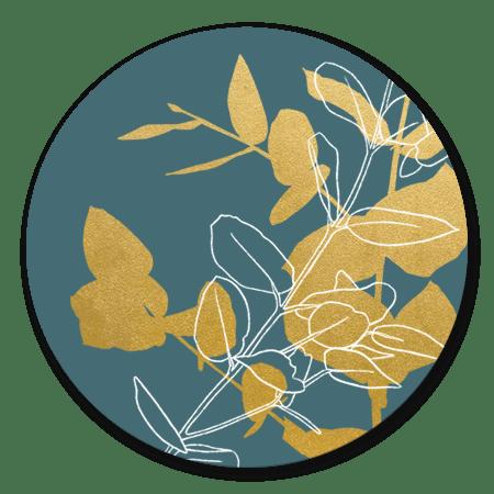 Gouden takjes met blauw