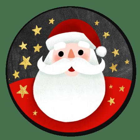 Kerstman met gouden sterren