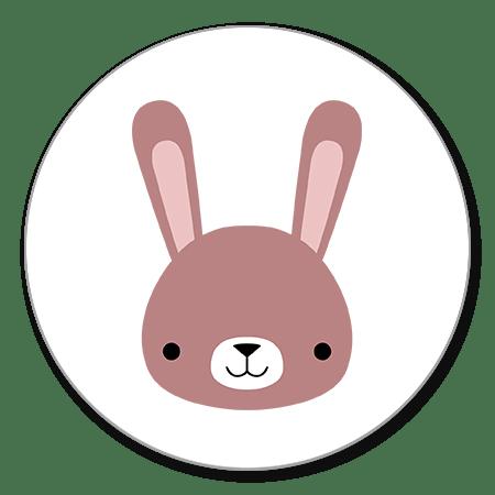Hoofdje roze konijn