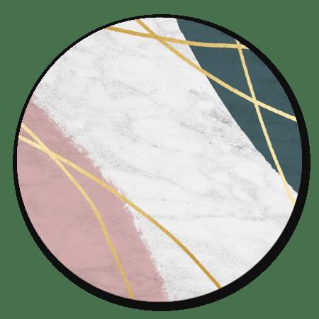 Marmer met verf en gouden strepen
