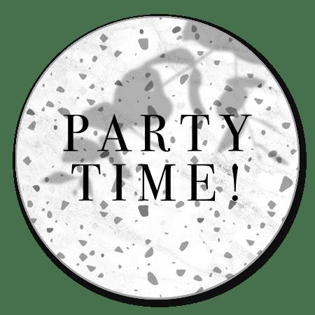 Terrazzo, marmer en Party Time!