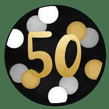 Confetti Gouden 50