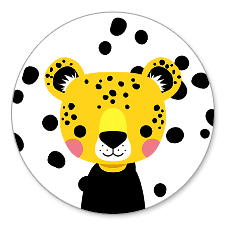 Luipaard met zwarte stipjes