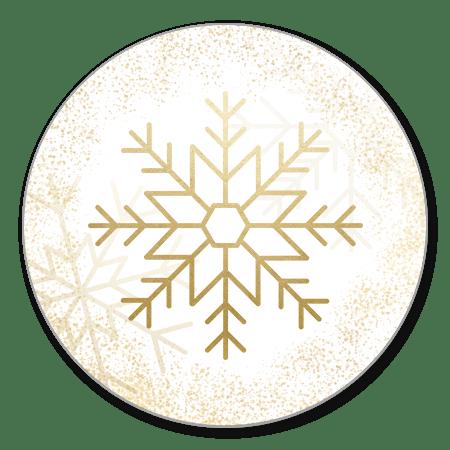 Gouden sneeuwvlokken en sneeuw