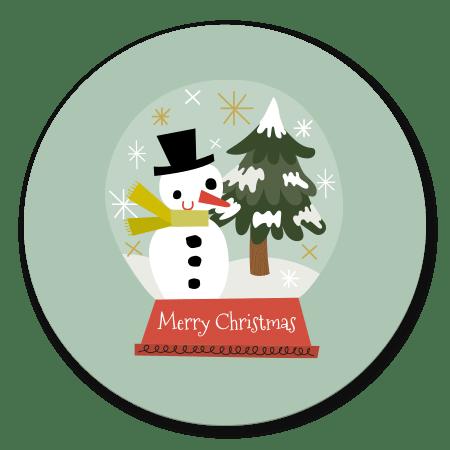 Kerst sneeuwpop snowglobe
