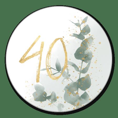 Waterverf takje met gouden 40
