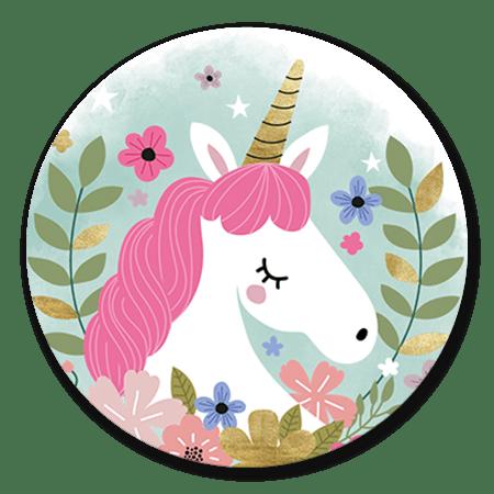 Unicorn met waterverf en bloemen