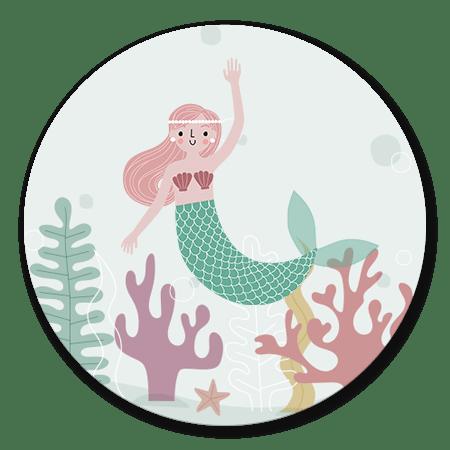 Zeemeermin met plantjes