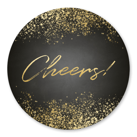 Gouden spetters en Cheers!