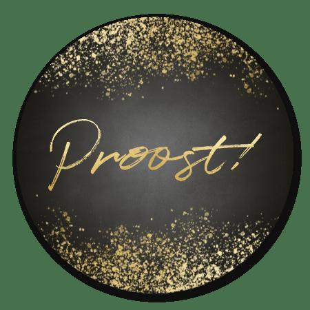 Gouden spetters en Proost!