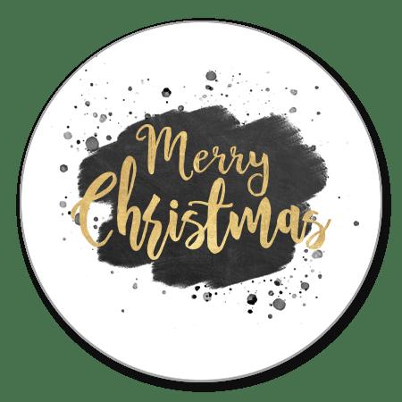 Kerst - Zwarte verf en gouden Merry Christmas