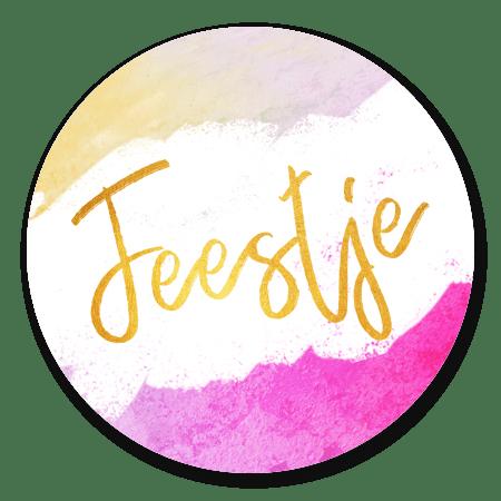 Feestje goud - waterverf roze
