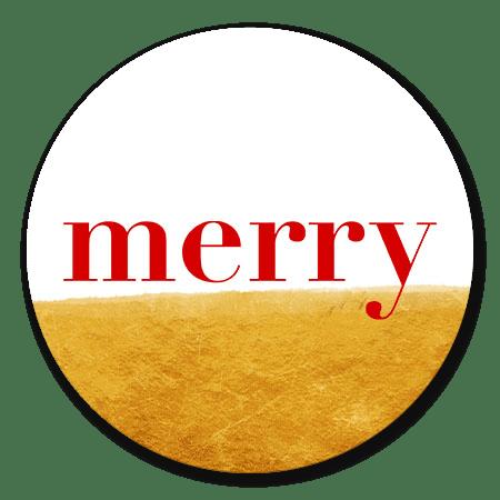 Goud en rode merry