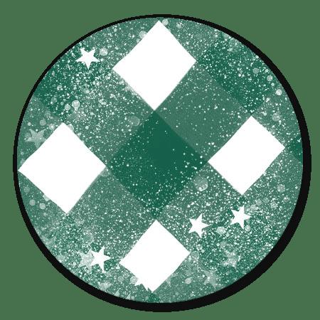 Groene ruit en sneeuw