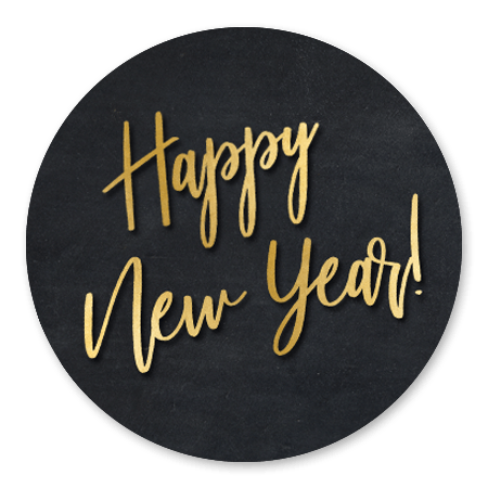 Happy New Year - Zwart