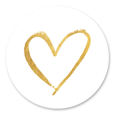 Hartje goud - Geschilderd