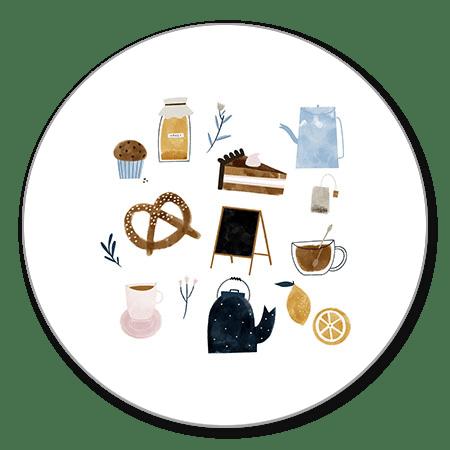 High tea illustraties