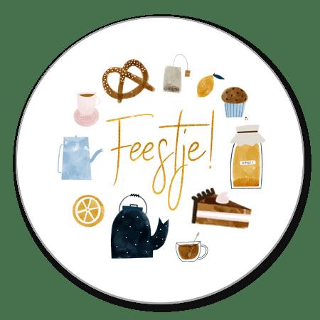 High tea illustraties en Feestje