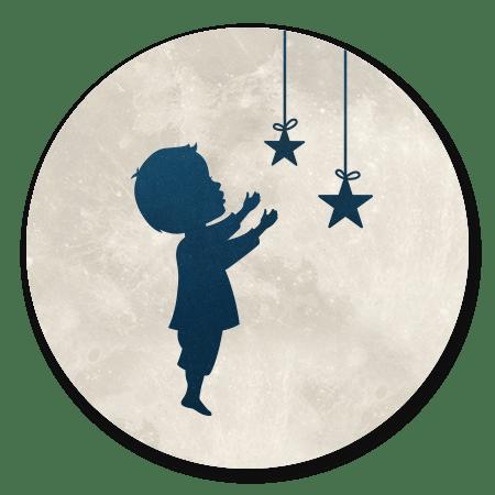 Silhouet - Jongen pakt ster