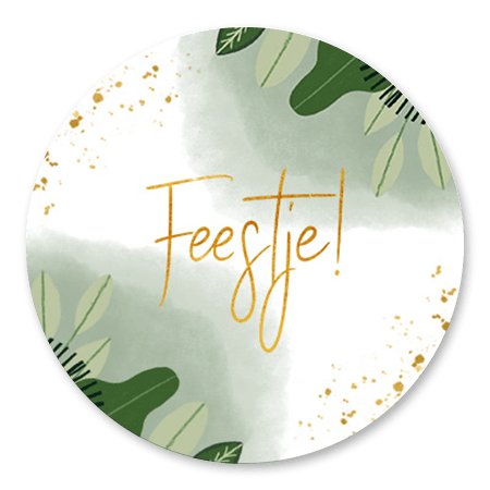 Jungle bladeren, goud en Feest!