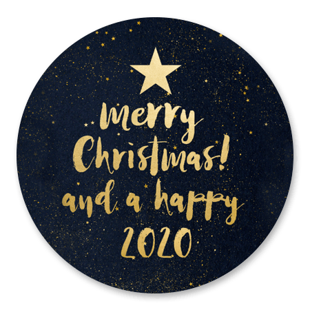 Kerstboom in letters sterretjes