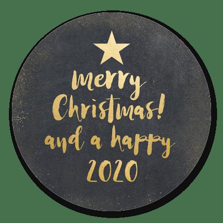 Kerstboom in letters zwart