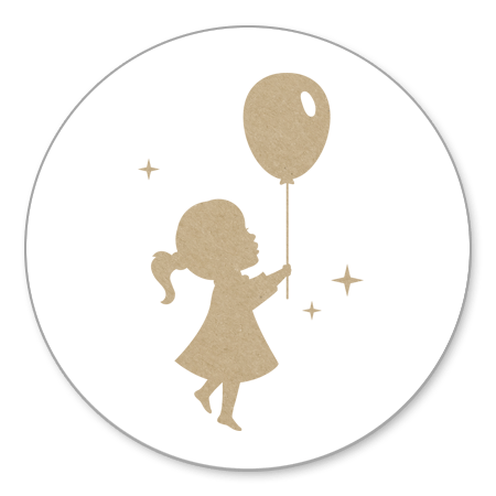 Meisje Ballon - kraft