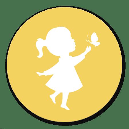 Meisje vlinder - geel