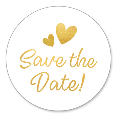 Save The Date - gouden tekst