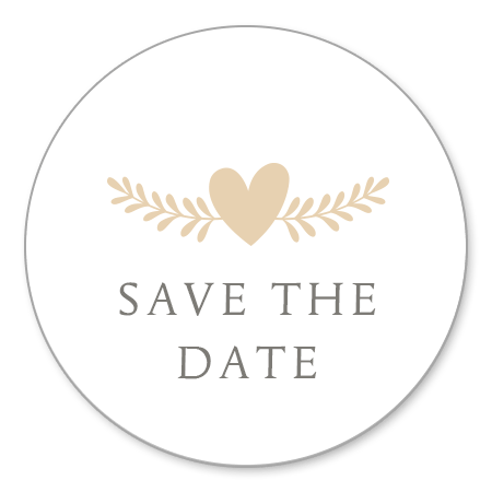 Save the Date - Hartje met takje