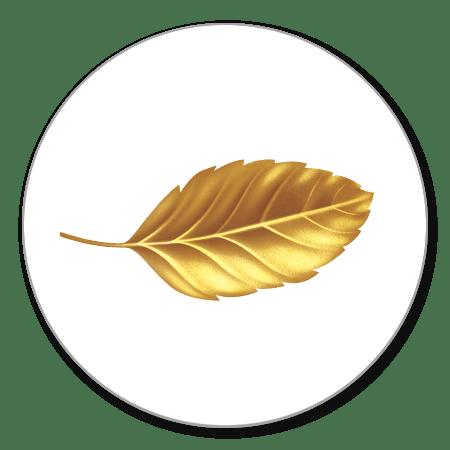 Sluitzegel blaadje goud
