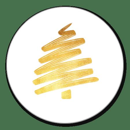 Sluitzegel goud kerstboom
