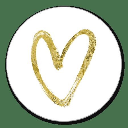 Sluitzegel hart goud glitter