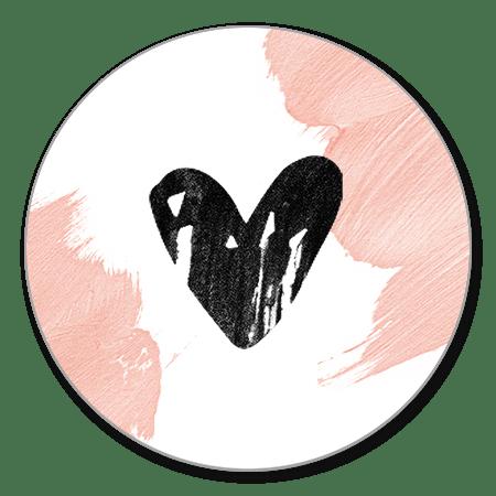 Sluitzegel hartje verf roze