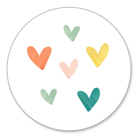 Sluitzegel hartjes kleurtjes