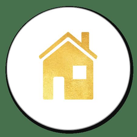 Sluitzegel huisje goud