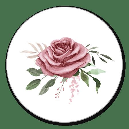 Sluitzegel roos vintage